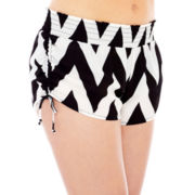 Arizona Chevron Print Shorts Cover-Up - Juniors