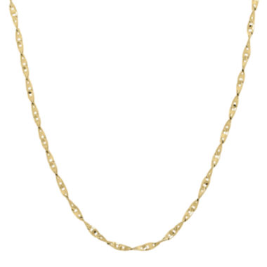 "jcpenney.com | Infinite Gold™ 14K Yellow Gold 18"" Flat Twisted Link Chain Necklace"