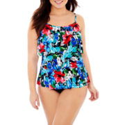 Jamaica Bay® Tiered Tankini Swim Top or Adjustable Bottoms - Plus