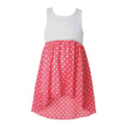 Pinky Lace High-Low Dress - Preschool Girls 4-6x