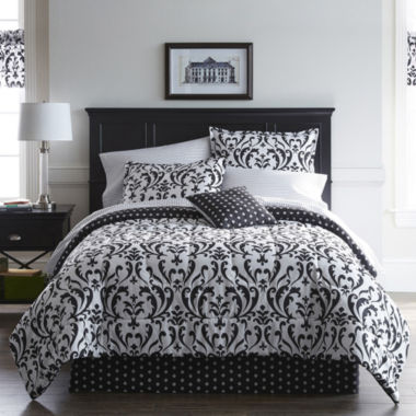 jcpenney.com | Home Expressions™ Regal Damask Complete Bedding Set with Sheets Collection
