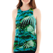 a.n.a® Flowy Zipper-Back Tank Top