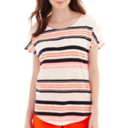 Stylus™ Short-Sleeve Striped Dolman T-Shirt