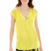 Stylus™ Short Sleeve Peasant Top
