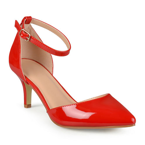 Journee Collection Ike Patent Ankle-Strap Pumps