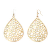 The Boutique Gold-Tone Teardrop Drop Earrings