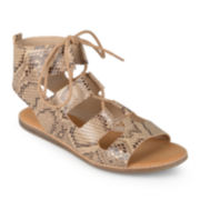 Journee Collection Ila Lace-Up Gladiator Sandals
