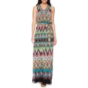 R&K Originals® Sleeveless Embroidered Maxi Dress