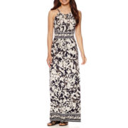 London Style Collection Sleeveless Floral Print Maxi Dress