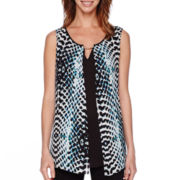 Worthington® Sleeveless Open Front Blouse - Tall