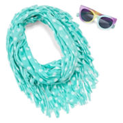 Polka Dot Sunglass and Scarf Set