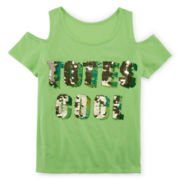 Total Girl® Short-Sleeve Sequin Top - Girls 7-16 and Plus