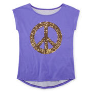 Total Girl® Sequin Short-Sleeve Graphic Tee - Girls 7-16 and Plus