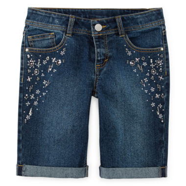 jcpenney.com | Total Girl® Embellished Bermuda Shorts - Girls 7-16 and Plus