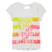Reebok® Short-Sleeve Warm Up Tee - Girls 7-16