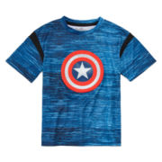 Novelty Short-Sleeve Captain America Tee - Preschool Boys 4-7