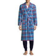 U.S. Polo Assn.® Long-Sleeve Woven Madras Robe