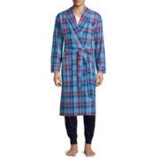 U.S. Polo Assn.® Long-Sleeve Woven Madras Robe
