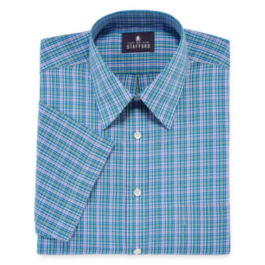 jcpenney.com | Stafford® Short-Sleeve Easy-Care Broadcloth Dress Shirt - Big & Tall