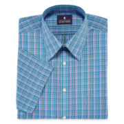 Stafford® Broadcloth Short-Sleeve Button-Front Shirt