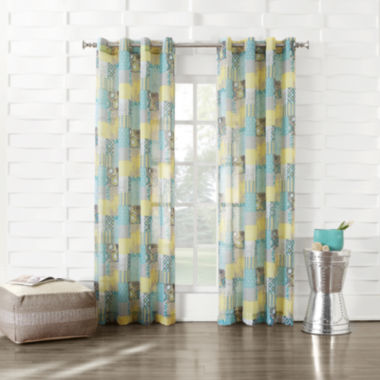 jcpenney.com | Gonzales Grommet-Top Sheer Curtain Panel