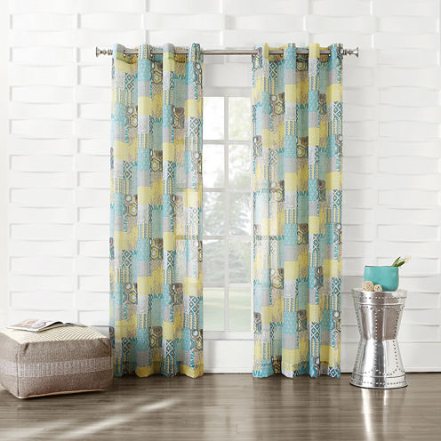 Gonzales Grommet-Top Sheer Curtain Panel