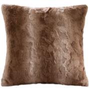 Madison Park Marselle Faux Fur Square Pillow