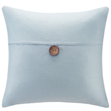 jcpenney.com | Madison Park Linen One-Button Square Feather Pillow