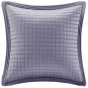 "Madison Park Quilted Charmeuse 20"" Square Feather Pillow"