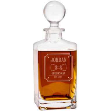 jcpenney.com | Cathy's Concepts Personalized Bow Tie 32 oz. Square Whiskey Decanter