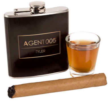 jcpenney.com | Cathy's Concepts Personalized 6 oz. Agent Flask