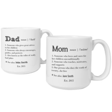 jcpenney.com | Cathy's Concepts Parent Definition 2-pc. Large Coffee Mug Set