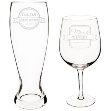 jcpenney.com | Cathy's Concepts Mom and Dad 2-pc. Xl Beer and Wine Glass Set