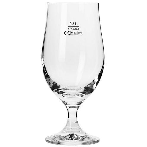 Krosno Bruno Set of 6 Lager Beer Glasses