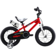RoyalBaby Kids Red BMX Freestyle Bicycle with Training Wheels