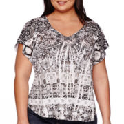 Unity® One World Short-Sleeve Print Top - Plus