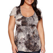 Unity® One World Short-Sleeve Tie Dye Bling Top - Plus