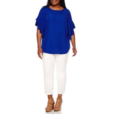 jcpenney.com | Stylus™ Ruffle-Sleeve Top or Slim Ankle Pants