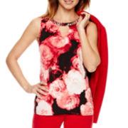 Worthington® Sleeveless Embellished Blouse