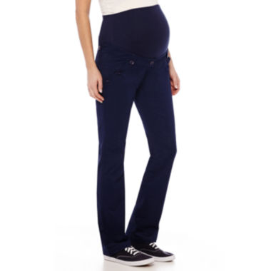 Maternity Over the Belly Twill Pants - JCPenney