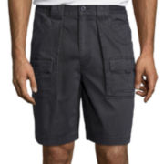 "St. John's Bay® 9"" Cargo Hiking Shorts"
