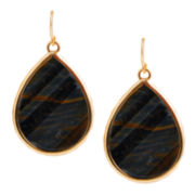 Art Smith by BARSE Blue Tiger's Eye Teardrop Earrings