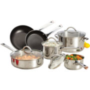 Farberware® 10-pc. Stainless Steel Cookware Set + $10 Printable Rebate