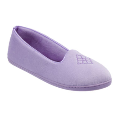 jcpenney.com | Dearfoams® Embroidered Velour Slip-On Slippers