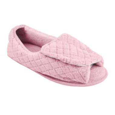 jcpenney.com | MUK LUKS® Adjustable Open Toe Micro Chenille Slippers