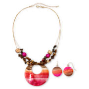 Mixit™ Shell Illusion Necklace & Earring Set