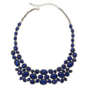 Aris by Treska Dark Blue Bib Necklace