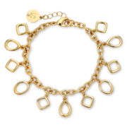 Liz Claiborne® Gold-Tone Flex Charm Bracelet