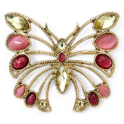 Liz Claiborne® Gold-Tone Multicolor Butterfly Pin