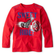 Okie Dokie® Long-Sleeve Graphic Knit Tee – Boys 12m-24m